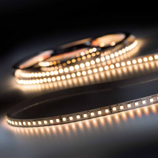 LumiFlex 700 Pro Nichia LED Strip warm white CRI90 2700K 11400lm 24V 140 LEDs/m 16ft/5m reel (695lm & 5.9W/ft)