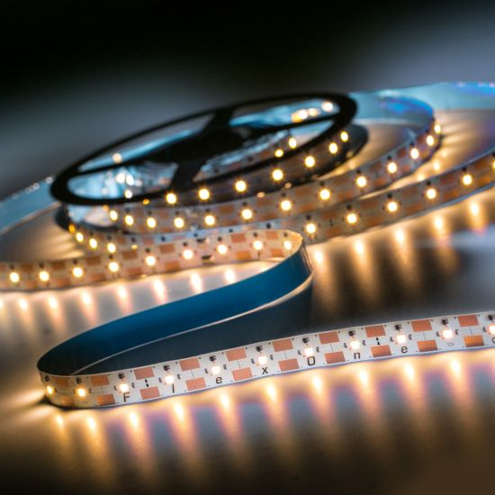 FlexOne 250 Samsung LED Strip warm white 2700K 11825lm 12V 50 LEDs/m 16ft/5m reel (721lm & 3.4W/ft)