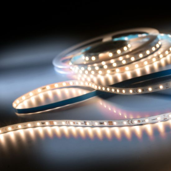 LumiFlex350 Pro Samsung LED Strip warm white CRI80 2700K 6500lm 24V 70 LEDs/m 16f/5m reel (393lm and 3.81W/ft)