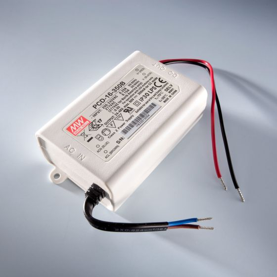 Constant Current LED Driver Mean Well PCD-16-350B IP30 350mA 24 > 48V DIM