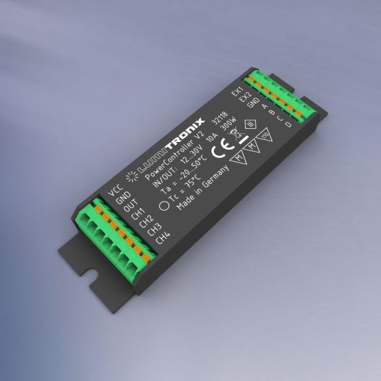 PowerController V2 Light Control Unit 1- 4 control channels for Tunable White, RGBW or single color