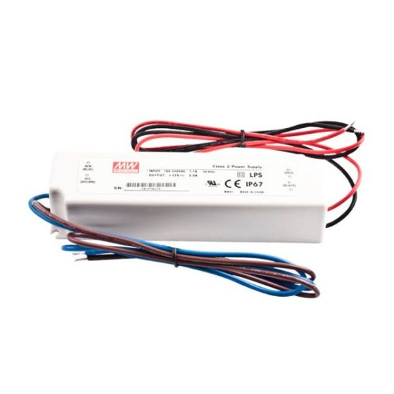 Constant Voltage Power Supply Mean Well LPV-100-24 IP67 230V to 24V 4.2A 100W