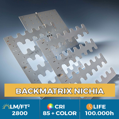 Professional BackMatrix Nichia LED modules, up to 2800 lm / square foot
