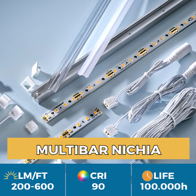 Professional Multibar Nichia LED Strips, Plug & Play, CRI90+, flux up to 600 lm/ft