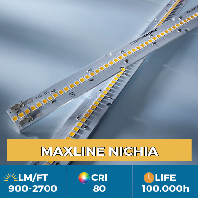 Professional Maxline LED Strips, Plug & Play, luminous flux up to 2700 lm / ft